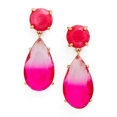 Women's Kate Spade New York Here Comes The Sun Drop Earrings ($58) ❤ liked on Polyvore featuring jewelry, earrings, pink multi, drop earrings, kate spade earrings, pink earrings, kate spade and kate spade jewelry