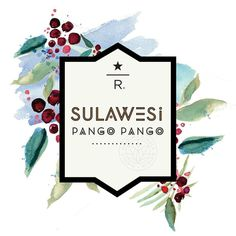 starbucks reserve coffee label // sulawesi