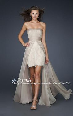 Casual Lace High Low wedding Dress | Love this too. not the color though.
