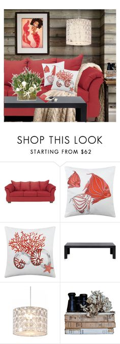 """""""Mermaid Tales"""" by dkelley-0711 ❤ liked on Polyvore featuring interior, interiors, interior design, home, home decor, interior decorating, Marinette Saint-Tropez, Kartell, Innermost and etsty"""