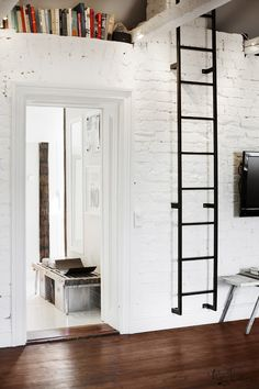 Some day I will have a house with a white painted brick wall in my living room
