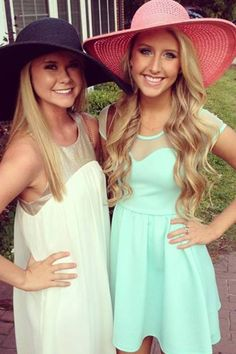 light pastels and derby hats. adorable!