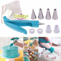 Pastry Icing Piping Bag Nozzle Fondant Cake Cupcake Decorating Pen Set Tool