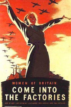 British WW II propoganda poster