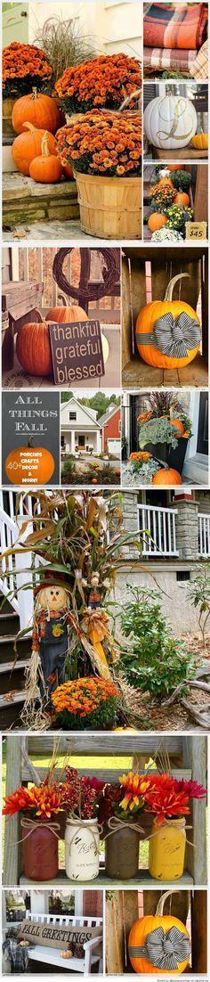 Fall Porch Decorating Ideas ★❤★ Trending • Fashion • DIY • Food • Decor • Lifestyle • Beauty • Pinspiration ✨ @Concierge101.com