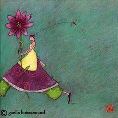"Gaelle Boissonnard: Greeting Cards and more...: Flower: ""Dahlia in Hand"" postcard by Gaelle Boissonnard"