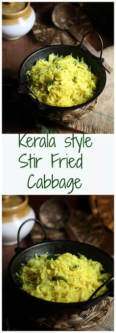 Kerala style cabbage thoran or stir fried cabbage is a  dry curry of cabbage, coconut, and chili.its a delicious and easy to make Kerala style cabbage preparation.Perfectly goes with steamed rice or you can serve as an accompaniment with rice and other curries.