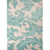 Found it at Wayfair - Blue Antique White Floral Area Rug
