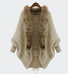 Warm fur cardigan  sweater coat