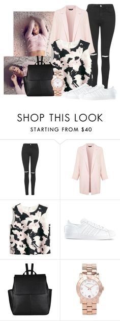 """I Only Call You When It's Half Past 5"" by saraahtakuubaybee ❤ liked on Polyvore featuring Topshop, Miss Selfridge, H&M, adidas, John Lewis and Marc by Marc Jacobs"