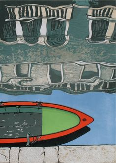 Rio di San Barnaba - Venice, Mike Smith - beautiful reflections in water and the striking colours of the boat from above.