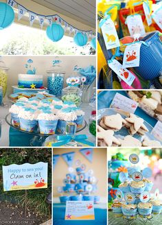 Under the Sea Birthday Party Printable Decor Kit (Digital File)