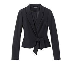 Dámske sako s viazačkou, jednofarebné Blazer, Jackets, Fashion, Down Jackets, Moda, Fashion Styles, Blazers, Jacket, Fasion