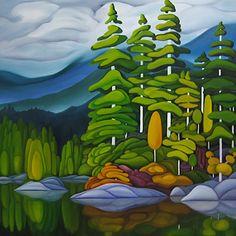Artist Deb Gibson via canvas gallery  http://canvasgallery.ca/images/artists/gibson/gibsonp3.htm#