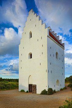 Den Tilsandede Kirke Steeple - photo by Inge Johnsson on fineartamerica.com.  Den Tilsandede Kirke Church near Skagen in Denmark