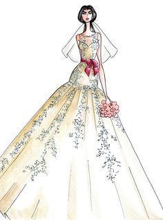 Fall 2013 collection sketch | Alfred Angelo | brides.com