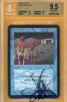 GEM MINT BGS 9.5 Alpha Time Walk | Sold for $5,500 USD in 2011 | Sold again for $15,000 in 2014