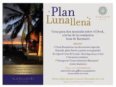 """""""Cena para dos montada sobre el Deck, a la luz de la romántica luna Karmairi"""""""