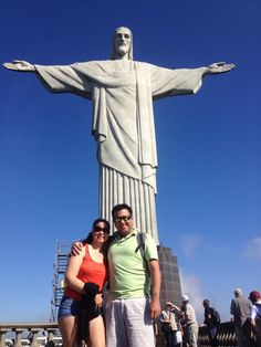 This pin/pic shows the beautiful view of The Cristo Redentor at Corcovado in Rio de Janeiro, Brasil! #sharktribe @vjchile