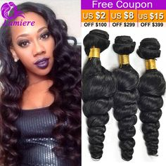 7A Peruvian Virgin Hair Loose Wave 3Pcs Soft Curly Weave Human Hair Bundles Deals Annabelle Hair Peruvian Loose Wave Virgin Hair