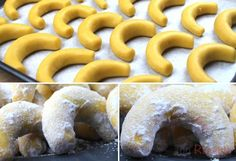 Puddingkipferl - finished within 20 minutes - Candy Recipes, Sweet Recipes, German Cake, Good Food, Yummy Food, Fabulous Foods, Creative Cakes, Christmas Cookies, Nutella
