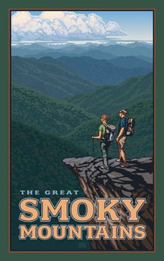 #Artwork showing the experience of through hikers in The Great #SmokyMountains National #Park - http://visitsevierville.com/