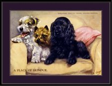 English Picture Print Sealyham Cairn Terrier Dog Art