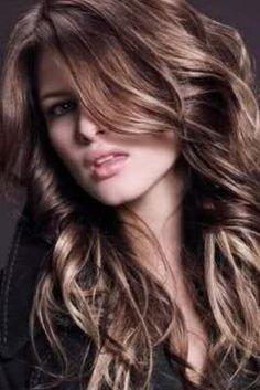 layered dark chocolate brown colored hair all over bleached   2011 Saç Modelleri – Saç Renkleri