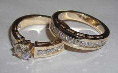 carat round diamond bridal ring set white gold new Bridal Rings, Wedding Rings, Wedding Stuff, Gold Wedding, Dream Wedding, Wedding Vintage, Wedding Band, Perfect Wedding, Wedding Cakes