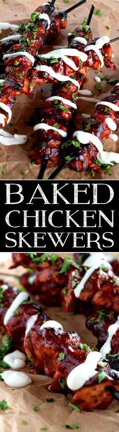 Baked Chicken Skewers