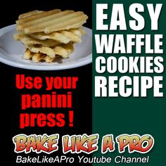 EASY WAFFLE COOKIES ! ►►► CLICK PICTURE for video recipe