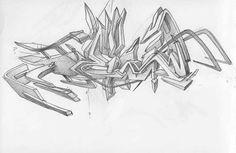 sketches graffiti 3D