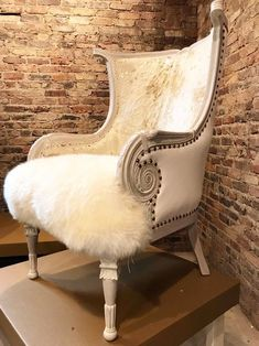 Sit right down in this cushy glamourous French Chic chair, aptly named after my fellow Hungarian American movie star Ava Gabor, Sister to *Zsa Zsa. Funky Furniture, Furniture Upholstery, Shabby Chic Furniture, Upholstered Chairs, Furniture Makeover, Furniture Design, Cowhide Furniture, Furniture Buyers, Furniture Removal