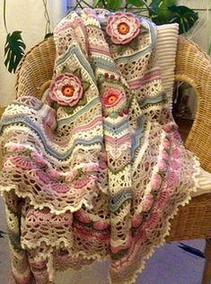 Ravelry: Wild Roses Blanket pattern by Heidi Heinrichs