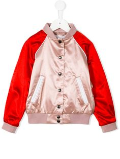 Shop Burberry Kids buttoned bomber jacket .