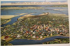 Vintage Postcard, Lake Merritt, Oakland California by riptheskull, via Flickr