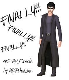 THIS IS FOR SIMS 2.  4t2 AM Oracle  This is for Adult Male.  It comes in only the one color.  I didn't do the white color because it looked terrible.  Paired with the Supervillian boots.  No morphs at this time.  DOWNLOAD  Credits:  All EAxis  John Mole is...