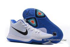 "786208249a7 Nike Kyrie 3 ""Duke"" White Blue Black New Release"