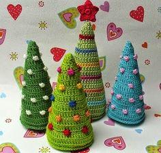 Super colección de Pinos Navideños al crochet | Todo crochet