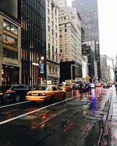 NYC under the rain ☔️