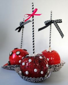 Candy Apples would be a good idea for holiday gifts or decorations and/or birthdays