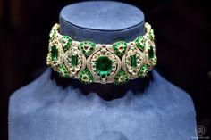 Chopard choker with diamonds and emeralds #TEFAF #TEFAF2015 #Maastricht