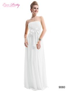 Sexy White Long Evening Party Bridesmaid Dress
