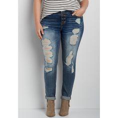 e006c1d7964 maurices Plus Size - Denimflex™ Skinny Boyfriend Jeans With Heavy... ( 41
