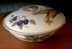 Royal Worcester Flameproof Porcelain Evesham Casserole Dish Pan W/Lid Size  3 | EBay