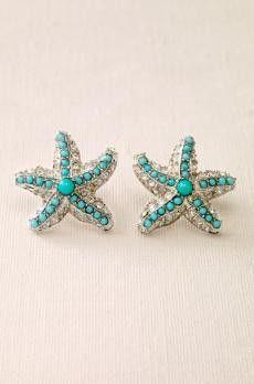 Starfish earrings! So cute!