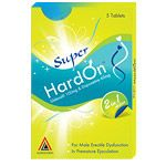 Super Hard On by Aurochem® Labs contains Viagra with Dapoxetine (the most effective medication against premature ejaculation). It is a new super strength pill is used to treat erectile dysfunction and premature ejaculation. Viagra helps the body to relax mussels thus increasing the blood flow into the penis, Dapoxetine lowers helps you to delay the ejaculation.