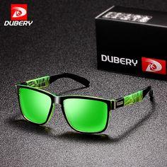 eff887310f237 Buy DUBERY 2018 Sport Sunglasses Polarized For Men Sun Glasses Square  Driving Personality Color Mirror Luxury Brand Designer