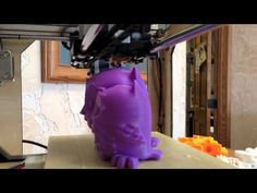 """The MakerGeeks.com Duplicator 3D Printer is printing """"Blinky the 8-Bit Owl"""" in a  Full Print Time Lapse - This is our Purple ABS 1.75mm Filament - learn more online at http://makergeeks.com/ - we also sell the Duplicator 3 and Duplicator 4 printers at a GREAT price with FREE shipping and ZERO tax!!"""