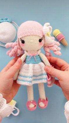 Crochet Baby Toys, Crochet Teddy, Crochet Baby Booties, Doll Amigurumi Free Pattern, Crochet Doll Pattern, Amigurumi Doll, Handmade Dolls Patterns, Crochet Amigurumi Free Patterns, Crochet Doll Tutorial